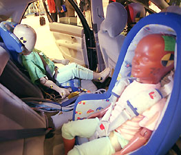 Accident simulators like this are part of research and testing performed on automobiles to ensure that they meet the highest safety standards.